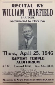 William Warfield Recital Program